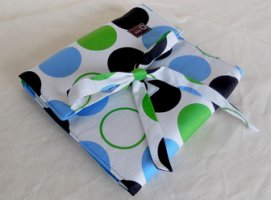 della Q The Que - Cotton (Style 165-1) - 099 Blue Green Polka Dot
