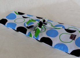 della Q Lily Combo Needle Case (Style 101-1) - 099 Blue Green Polka Dot (Limited Edition)