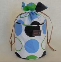 della Q Pippa Yarn Dispenser (Style 240-1) - 099 Blue Green Polka Dot
