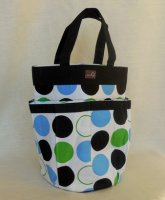della Q Cleo Yarn Caddy (Style 330-1) - 099 Blue Green Polka Dot (Discontinued)