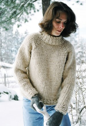 Knitting Pure and Simple Women's Sweater Patterns - 0224 - Weekend Neckdown Pullover Pattern