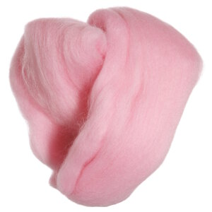 Clover Natural Wool Roving Yarn - Pink