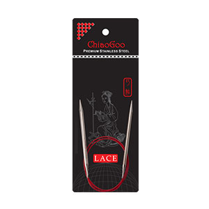 "ChiaoGoo RED Lace Circular Needles - US 7 (4.50mm) - 16"" Needles"
