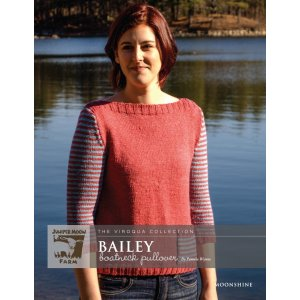 Juniper Moon Farm The Viroqua Collection Patterns - Bailey Boatneck Pullover Pattern