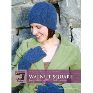 Juniper Moon Farm The Haverhill Collection Patterns - Walnut Square Fingerless Mitts & Hat Pattern