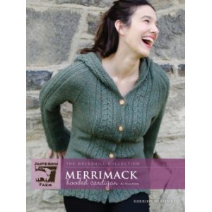 Juniper Moon Farm The Haverhill Collection Patterns - Merrimack Hooded Cardigan Pattern