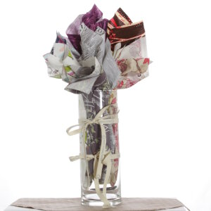 Jimmy Beans Wool Fabric Bouquets - Westminster 5th Anniversary Bouquet- Wood