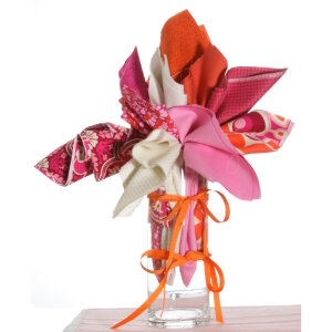 Jimmy Beans Wool Fabric Bouquets - Mother's Day Pinks