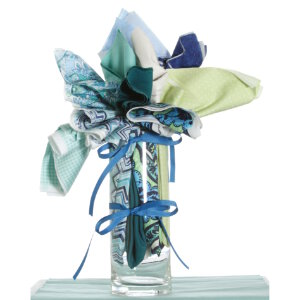 Jimmy Beans Wool Fabric Bouquets - Mother's Day Teals
