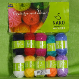 Nako Rekor Mini 10-Pack Yarn - 02 Bright Set