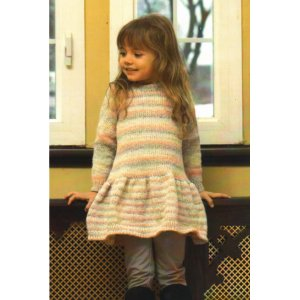 Plymouth Baby & Children Patterns - 2717 Girl's Drop Down Waist Dress Pattern
