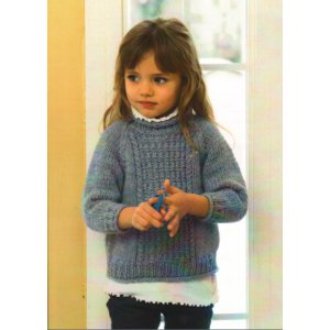 Plymouth Patterns - Baby & Children Patterns - 2721 Child's Aran Sweater