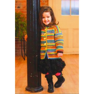 Plymouth Baby & Children Patterns - 2726 Child's Garter Ridge Cardigan Pattern