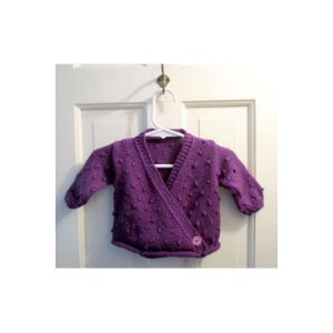 Plymouth Baby & Children Patterns - 2740 Crossover Baby Cardigan Pattern