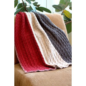 Plymouth Home Accessory Patterns - 2693 Vertical Stripe Throw and Afghan Pattern