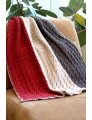 Plymouth Home Accessory Patterns - 2693 Vertical Stripe Throw and Afghan
