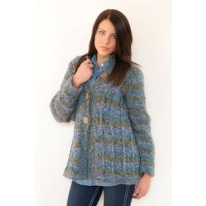 Plymouth Jacket & Cardigan Patterns - 2699 Slip Stitch Long Cardigan Pattern
