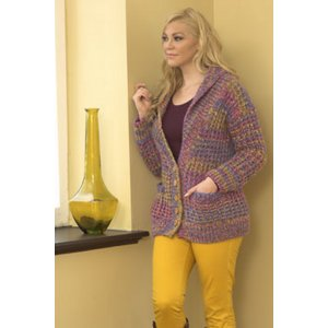 Plymouth Jacket & Cardigan Patterns - 2723 Woman's Waffle Stitch Jacket Pattern