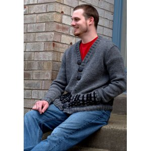 Plymouth Jacket & Cardigan Patterns - 2767 Men's Fair Isle Cardigan Pattern