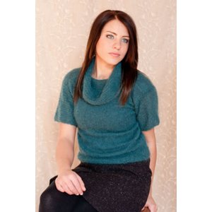 Plymouth Sweater & Pullover Patterns - 2770 Woman's Short Sleeve Cowl Neck Pullover Pattern
