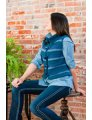 Plymouth Adult Vest Patterns - 2731 3 Color Striped Vest