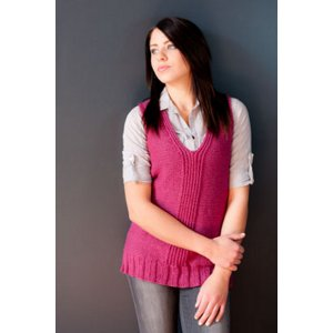 Plymouth Adult Vest Patterns - 2764 Split Twisted Ribbing Long Vest Pattern