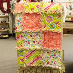 Jimmy Beans Wool Hand Made Gifts - Erin McMorris Greenhouse Flannel Baby Quilt - Citron