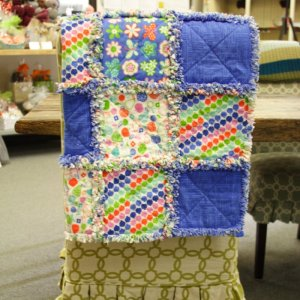 Jimmy Beans Wool Hand Made Gifts - Erin McMorris Greenhouse Flannel Baby Quilt - Royal