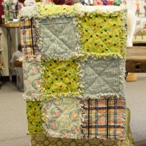 Jimmy Beans Wool Hand Made Gifts - Valori Wells Bridgit Lane Flannel Baby Quilt