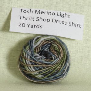 Madelinetosh Tosh Merino Light Samples Yarn - 1st Exclusive - Thrift Shop Dress Shirt