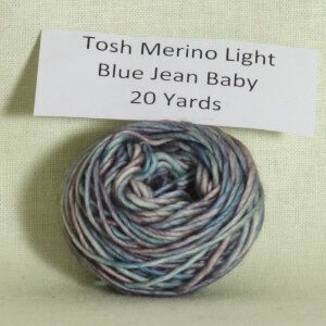 Madelinetosh Tosh Merino Light Samples Yarn - 3rd Exclusive - Blue Jean Baby
