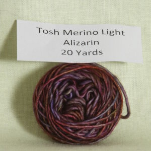 Madelinetosh Tosh Merino Light Samples Yarn - Alizarin