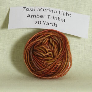 Madelinetosh Tosh Merino Light Samples Yarn - Amber Trinket