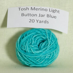 Madelinetosh Tosh Merino Light Samples Yarn - Button Jar Blue Discontinued)