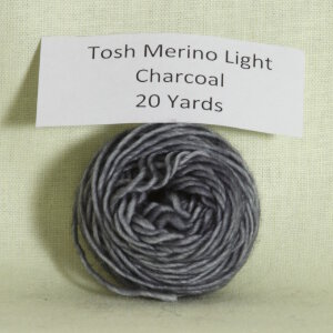 Madelinetosh Tosh Merino Light Samples Yarn - Charcoal