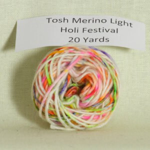 Madelinetosh Tosh Merino Light Samples Yarn - Holi Festival