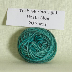Madelinetosh Tosh Merino Light Samples Yarn - Hosta Blue