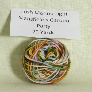 Madelinetosh Tosh Merino Light Samples Yarn - Mansfield's Garden Party (Discontinued)