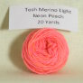 Madelinetosh Tosh Merino Light Samples - Neon Peach
