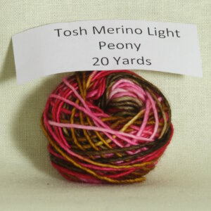 Madelinetosh Tosh Merino Light Samples Yarn - Peony (Discontinued)