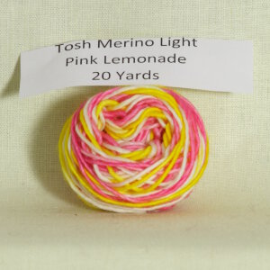Madelinetosh Tosh Merino Light Samples Yarn - Pink Lemonade (Discontinued)