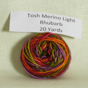 Madelinetosh Tosh Merino Light Samples Yarn - Rhubarb