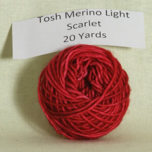 Madelinetosh Tosh Merino Light Samples Yarn - Scarlet (Discontinued)