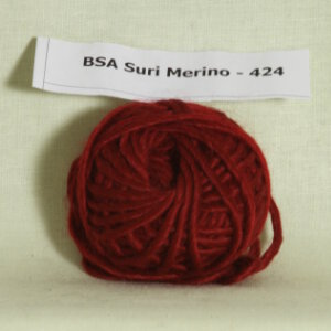 Blue Sky Fibers Suri Merino Samples Yarn - 424 Wildfire