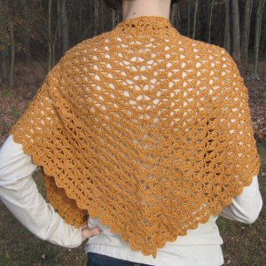 Poetry in Yarn Patterns - Autumn Leaves Shawlette Pattern