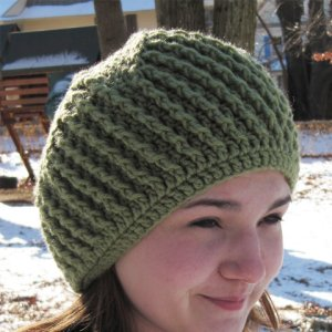 Poetry in Yarn Patterns - Ridged Whirl Hat Pattern