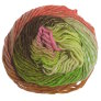 Noro Kureyon Yarn - 345 Lime, Coral, Pink, Brown (Discontinued)