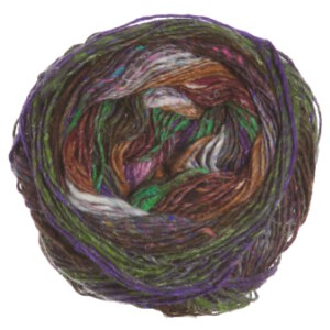 Noro Silk Garden Sock Yarn - 407 Brown, Purple, White, Green