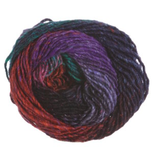 Noro Silk Garden Yarn - 393 Red, Black, Orange, Purple, Green (Discontinued)