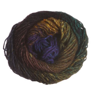 Noro Silk Garden Yarn - 394 Gold, Green, Brown, Black, Blue